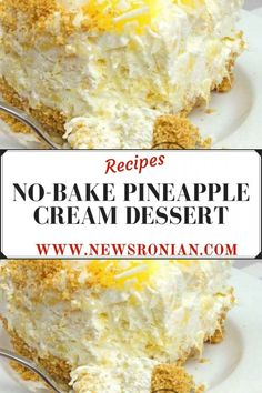 INGREDIENTS Filling: 8 oz softened cream cheese 1 tub oz) whipped topping 1 large can oz) crushed pineapple, drained ¾ cup confectioner's sugar. Cool Whip Desserts, No Bake Summer Desserts, Kid Desserts, Deserts With Cream Cheese, Cream Cheese Recipes, Pineapple Fluff Recipe Cream Cheese, Whipped Cream Desserts, Whipped Topping, Baked Pineapple