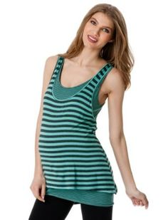 A Pea in the Pod: Sleeveless Scoop Neck Racerback Maternity Tank Top