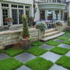 checkerboard patio