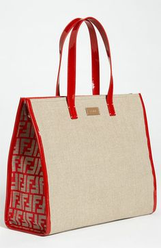 Fendi Linen Tote available at #Nordstrom