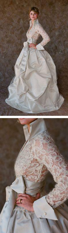 this. dress. is. buh-nanas. white chocolate label wedding dress