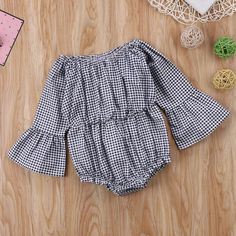 2c424749e Cali Flare Sleeve Plaid Cotton Romper. Trendy BabyDaisy DukesOnesiesGirl  OutfitsGirls DressesBaby Overalls