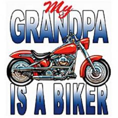 Kid's Biker Motorcycle Shirt, My Grandpa Is A Biker T Shirt,  Children's Youth Size T SHIRT, (Also Available) Sweatshirt, Fabric Block  420b by AlwaysInStitchesCo on Etsy