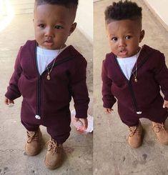 Baby first hair cut Black Baby Boys, Cute Black Babies, Beautiful Black Babies, Cute Babies, Outfits Niños, Cute Baby Boy Outfits, Kids Outfits, Baby Boy Swag, Kid Swag