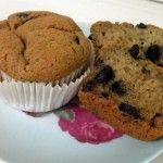 Recipe for Gluten Free, Sugar Free Blueberry Banana Muffins