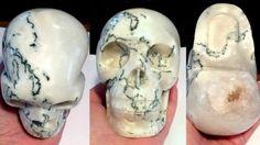 Large Crystal skulls Dendritic Moss Tree Agate Quartz crystalline gemstone Skull Contact Spirits Psychic ability clairvoyance