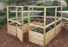 Outdoor Living Today - Raised Garden Bed 8 x 8 with Deer Fence Kit #best-raised-garden-beds #best-seller #Brand_Outdoor-Living-Today