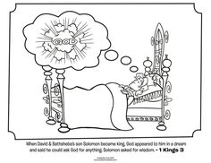 King Solomon - Bible Coloring Pages Solomon Bible, King Solomon, Preschool Bible Lessons, Bible Activities, Mermaid Coloring Pages, Bible Coloring Pages, Sunday School Activities, Sunday School Crafts, School Games