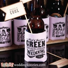 Create your ultimate #wedding favor here! TOTALLY customize your perfect wedding favor can cooler as we offer over 800 artwork templates to customize, 6 different styles of can coolers & 32 product colors.