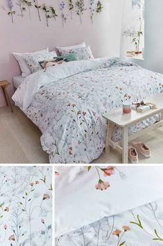 Bettwäsche Skandinavisch, Bettwäsche Blumen, Bettwäsche Blumenmuster,  Bettwäsche Rosa, Bettwäsche Romantisch, Bettwäsche