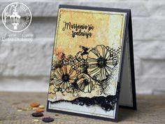 embossing card, Indigoblu Blazing Poppies stamp