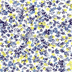 Blue and Yellow Ditsy Floral