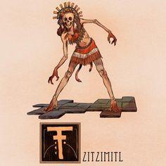 T is for Tzitzimitl by Deimos-Remus.deviantart.com on @DeviantArt