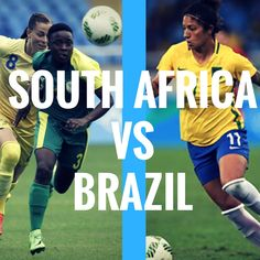 South Africa vs Brazil  #olympics #olympics2016 #rio2016 #soccer #football #futebol Brazil Olympics, Olympic Football, Rio 2016, South Africa, Soccer, Baseball Cards, Sports, Football, Hs Sports