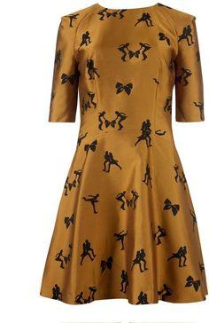 Ted Baker Borska Skater Jacquard Dress in Yellow - Lyst