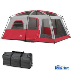Family Camping Tent 10 Person 2 Room Cabin Large Outdoor Equipment Hiking Gear #OzarkTrail #2RoomCabinTent