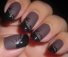 I may have to copy this look tomorrow! Matte - Nail Art Gallery by NAILS Magazine