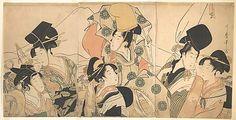 Narihira's Journey to the East, by Kitagawa Utamaro (ca 1797), at The Metropolitan Museum of Art - metmuseum.org