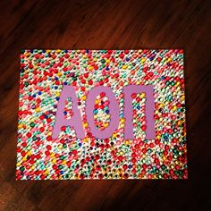 Alpha Omicron Pi sorority canvas