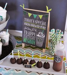 Make homemade Starbucks snacks and invite a few friends and pick out one drink from starbucks