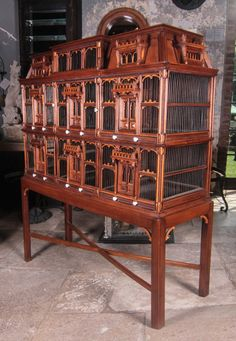 19th Century Wood Birdhouse   From a unique collection of antique and modern bird cages at https://www.1stdibs.com/furniture/more-furniture-collectibles/bird-cages/