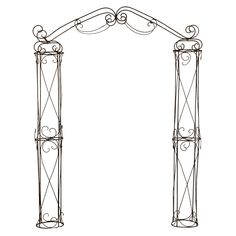 Measurements: high, wide, deep Color: Wrought Iron or White Metal Wedding Arch, Metal Arch, Wedding Arches, Iron Pergola, Metal Pergola, Arbor Gate, Garden Arbor, Outdoor Shelters, Wrought Iron Decor