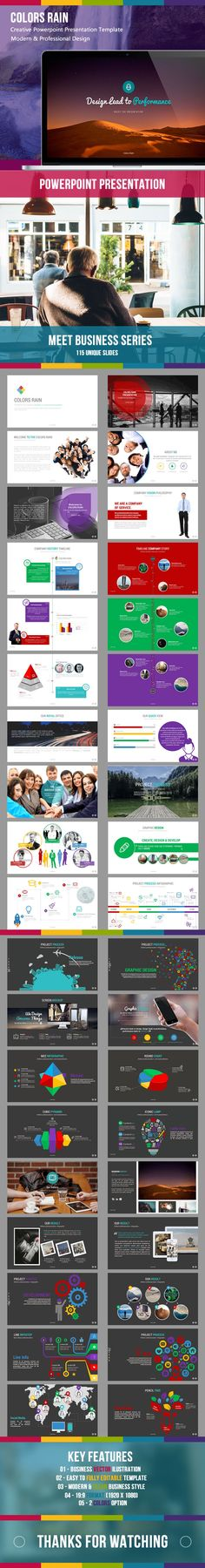 Colors Rain Powerpoint Template #powerpoint #powerpointtemplate #presentation Download: http://graphicriver.net/item/colors-rain-powerpoint/9601059?ref=ksioks