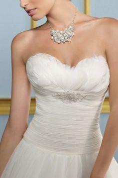 Ball Gown Sweetheart Pleated Organza Wedding Dress