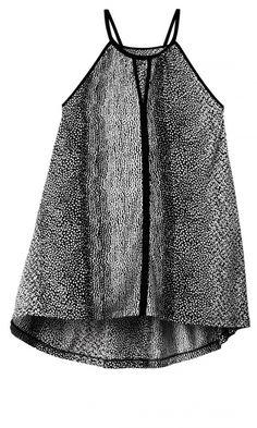 H&M SS13 Black Print Top