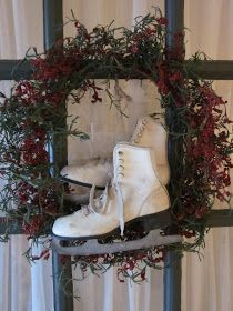 Evi's Country Snippets: CHRISTMAS HOUSE TOUR Christmas Decorations, Holiday Decor, Holiday Ideas, Back Doors, Time Of The Year, Grapevine Wreath, Wonderful Time, Vintage Christmas, Xmas