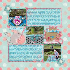 #2 Betsyfru  Layout Competition Week 1 Crocheting for Creativity