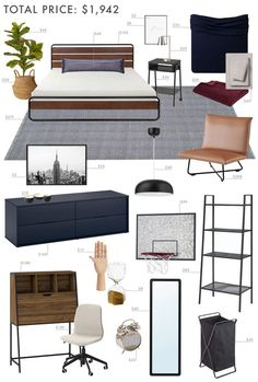 Ultimate Teen Boy Bedroom Furniture - Best Home Decor Tips Dream Teen Bedrooms, Girls Bedroom, Modern Teen Bedrooms, Big Boy Bedrooms, White Bedrooms, Dream Rooms, Bedroom Furniture, Bedroom Decor, Furniture Layout