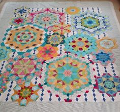 Periwinkle Quilting and Beyond: Quilting on the Millifiore Quilt