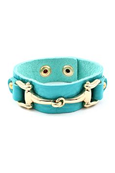 Brice Bracelet in Turquoise Leather