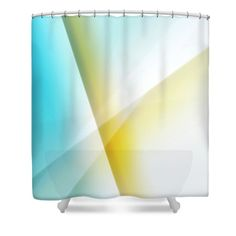 Timeless Geometric Abstract shower curtain by Jenny Rainbow. Blue - yellow - white geometric abstract for home decor. Curtains For Sale, Buy Art Online, Shower Curtains, Blue Yellow, Home Art, Rainbow, Bathroom, Abstract, Simple