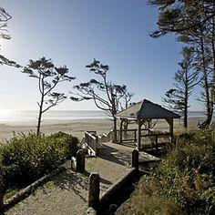 Inside Seabrook, Washington | Pacific Ocean Sunset Point Overlook with Beach Stairs | CoastalLiving.com