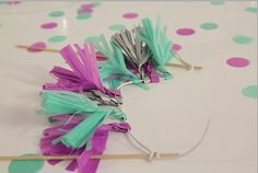 handmade tassel garland topper.. so sweeeeeet!