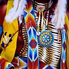 Colorful Native American Beadwork