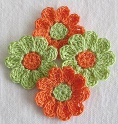 Small Crochet Flowers for Scrapbooks or Sewing 12 Handmade Crochet Coaster Pattern, Crochet Motif, Crochet Doilies, Crochet Patterns, Crochet Small Flower, Crochet Flower Tutorial, Crochet Flowers, Loom Knitting Projects, Knitting Yarn