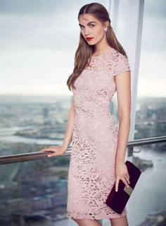 A statement lace dress has all occasions covered Petite Outfits, Stylish Outfits, Fashion Online, Lace Dress, Womens Fashion, Fashion Trends, Curves, Dorothy Perkin, Short Sleeve Dresses