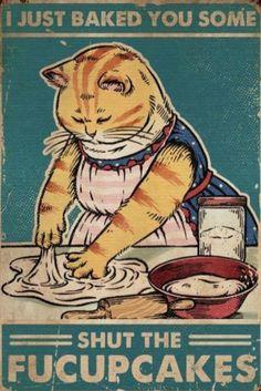 Crazy Cat Lady, Crazy Cats, Art And Illustration, Illustrations, Cute Cats, Funny Cats, Cat Posters, Dibujos Cute, Pics Art