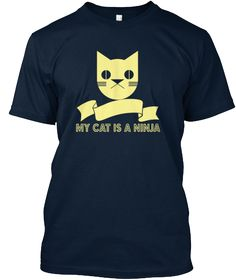Here is a fun tshirt for all those ninja cat owners, you know who you are! This shirt is in honor of Friday, the ninja panther cub. The sales of this shirt will go to Mac's Mission which is a 501c3 charity that helps dogs and cats in need. Check us out at macsmission.org  See Another Dog Collection tee...click here..https://teespring.com/stores/cats-symbol-t-shirt