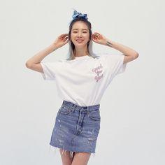 Irene Kim, Scrunchies, Role Models, Denim Skirt, Skirts, Hair, Instagram, Fashion, Templates