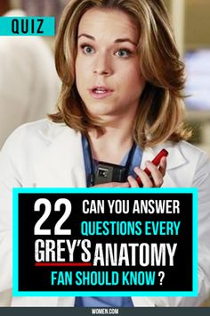 Meredith, Derek, the Chief - they're all here in the quiz of all Grey's Anatomy Fans. Will you pass the test? Shondaland, Shonda Rhimes, GreysAnatomy, GA Trivia.