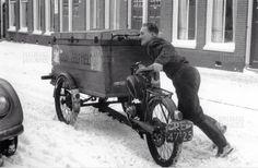Prachtig de oude bak fiets was wel zwaar in de sneeuw!
