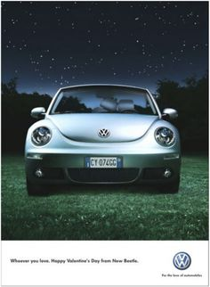 New Beetle Valentine's Day ad! Volkswagen New Beetle, Advertising, Ads, British Airways, Love Valentines, Cool Stuff, Creative, Travel, Design