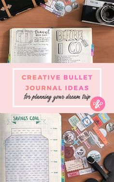 Travel with Bullet Journal - Creative bullet journal ideas for planning your dream trip #bulletjournal #travel #bulletjournalspread