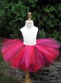 4886f61e707 Black Red and Fuchsia Adult or Teen Tutu Small to Lg
