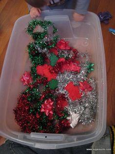 Sugar Aunts: Baby Christmas Sensory Bin **25 Days of Christmas**