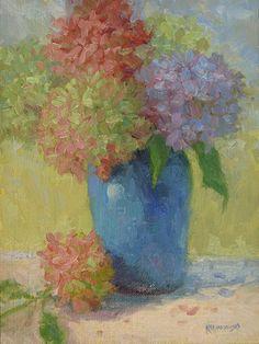 Hydrangea Love by Kathleen Kalinowski Oil ~ 8 x 6